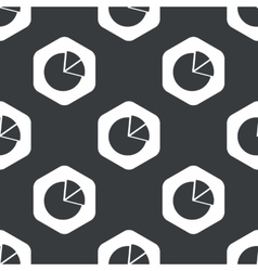 Black hexagon diagram pattern vector
