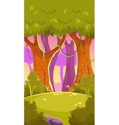 Cartoon forest vector