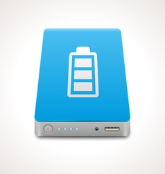 Portable power bank vector