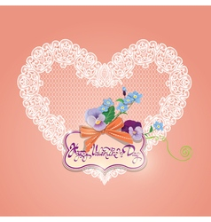 hearts lace 6 380 vector image