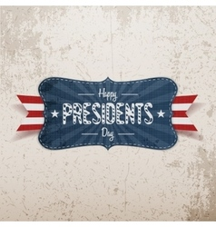 Happy presidents day banner and ribbon vector