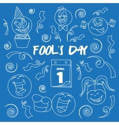Fools day- 1 april vector