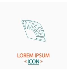 Folding fan computer symbol vector