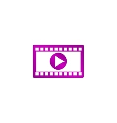 Video icon flat design style eps 10 vector