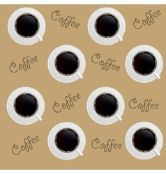 Abstract Coffee background seamless Pattern vector image vector image