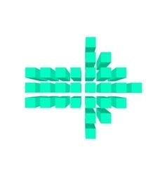 Arrow made of squares cartoon vector