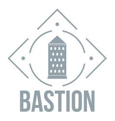 Bastion logo simple gray style vector