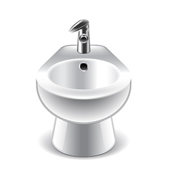 Bidet isolated on white vector image vector image