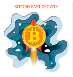 Bitcoin is fast growing cryptocurrency financial vector