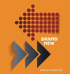 Brand New stickers and tags paper arrows vector image