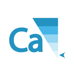 Calcium content indicator sign vector