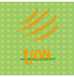 Card with the inscription lion for your business vector image vector image
