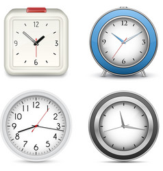 Collection of clocks and alarms vector image vector image