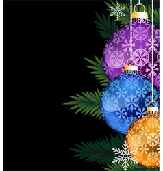 Colorful Christmas decorations vector image