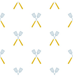 Crossed metal spatulas pattern seamless vector