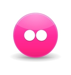Flickr icon simple style vector image