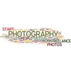 Freelance photography how to begin your career vector