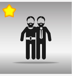 Gay black icon button logo symbol concept vector
