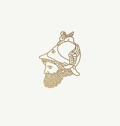 Greek god of war logo vector