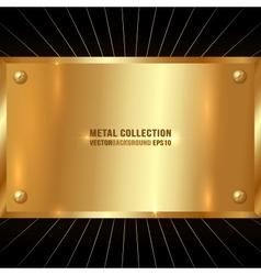 Metallic Golden Plate vector image