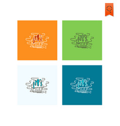 muffin modern flat icon vector image
