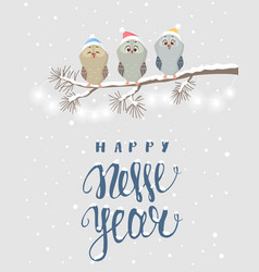 owls holidays vector image