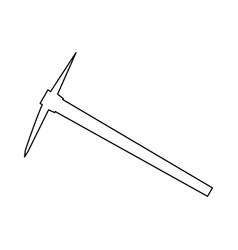 Pickaxe black color path icon vector