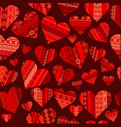 red hearts seanless vector image