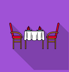Restaurant table icon in flat style isolated on vector