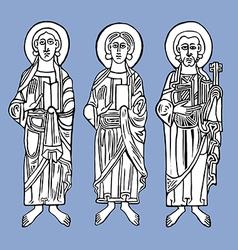 Saints vector image