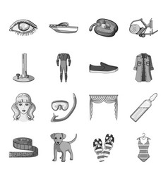 Transport recreation animal and other web icon vector