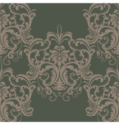 Vintage spring floral damask pattern vector