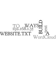 Ways to build a website text word cloud concept vector