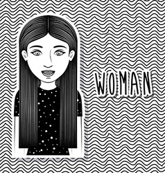 Woman design vector image
