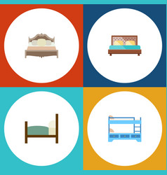 Flat bed set of bunk bed bed bedroom and other vector