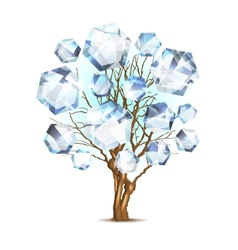 Diamond tree for your design vector