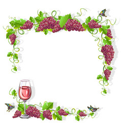 Wine frame free vector