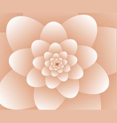3d abstract orange floral spiral background vector