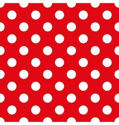 Fabric with polka dots seamless texture vector