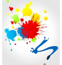 Brush paint splatter vector