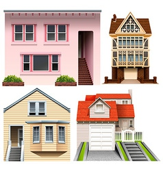 Four house designs vector