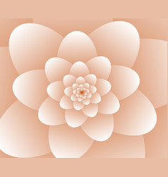 3d abstract orange floral spiral background vector