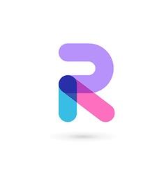 Letter R logo icon design template elements vector image