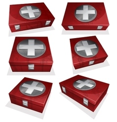 Set of first aid kit box vector