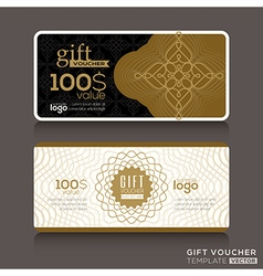 Gift certificate voucher coupon template vector