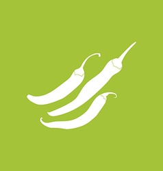 Chili pepper icon vector