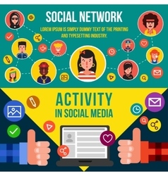 Social networking services horizontal banners vector