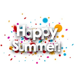 Happy summer paper background vector