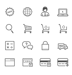 E-Commerce and Online Shopping icons vector image
