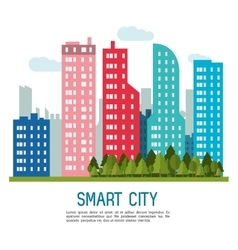 Smart city icon technology and internet design vector